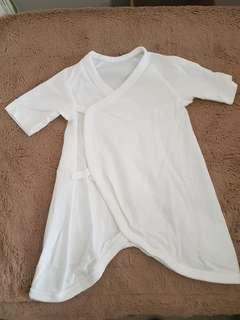 Uniqlo White Baby Grower New. 100% Cotton