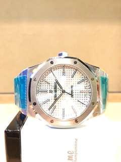 Brand New Audemars Piguet Royal Oak 15400ST White Dial Automatic Steel Casing Bracelet