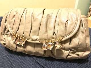 購自日本miumiu同款式閃石手袋 側咩