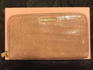 31號前購買包順豐站! Authentic Miumiu Long Wallet nude肉色長銀包 miu miu