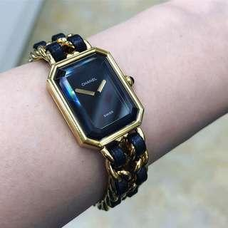 Authentic Chanel Premiere Classic Gold Watch in Size M