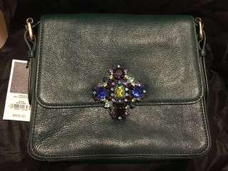 31號前購買包順豐站!絕版全新Juicy Couture Swarovski Genuine Leather Handbag施華洛世奇真皮斜咩袋