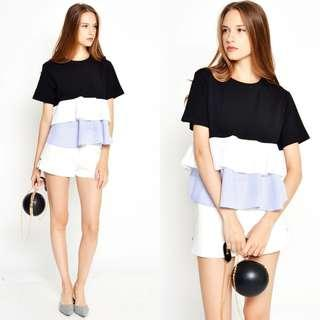 LAB ATHINA LAYERED TOP BLACK