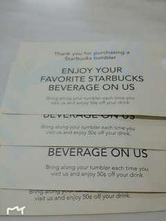 Starbucks Drinks Vouchers
