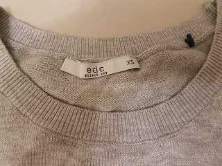 Esprit knitted top with attached shirt design