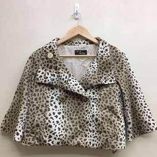 🚚 豹紋 絨布 傘狀 全新 短外套