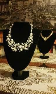 人造珍珠水晶頸鏈