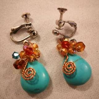 #CNY888 Earrings Clip on