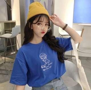 [PO] ' sad but cool ' oversized graphic tee