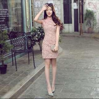 Traditional Pink Cheongsam