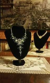 人造鑽石水晶頸鏈