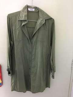 Army Green Oversized Shirt (BUY ONE FREE ONE)