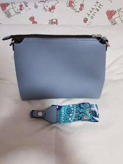 Hush Puppies Dusty Blue Sling Bag