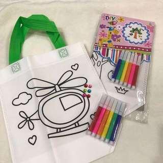 ✔️DIY bag / Graffiti bag - goodie / party bag / box add on