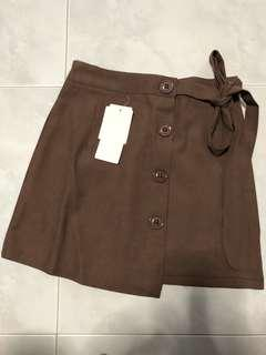 (BN) Button Down Brown Skirt