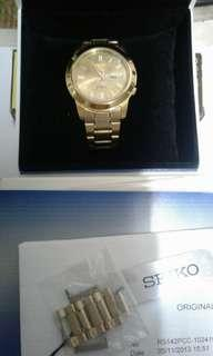 精工手錶(金色)機械錶