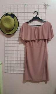 Saga Pink Off Shoulder Dress