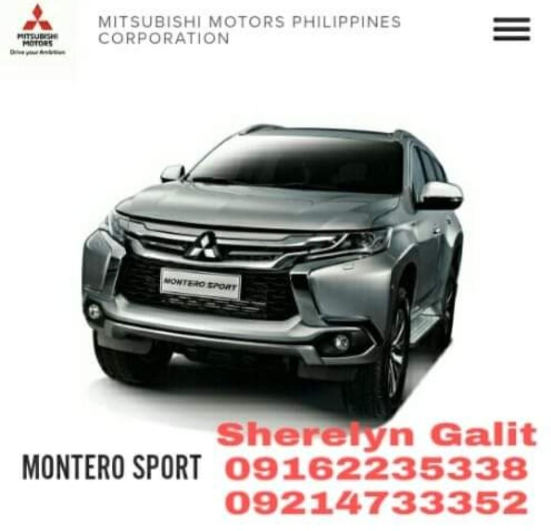 2019 Montero Sport GLX 2WD MT Unit Price: 1,499,000 20% Downpayment: 17k All-in Monthly for 60 Mos: 30,414