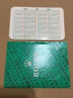 ROLEX CALENDAR & TRANSLATION BOOKLET SET (1997)