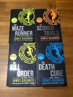 maze runner series [scorch trials + maze runner + death cure + kill order]
