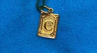"""Lovely, """"C"""" Locket (916 Gold) 🇸🇬🇸🇬🇸🇬"""