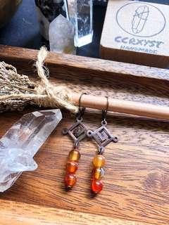🚚 Chakra Earrings- Sacral Carnelian