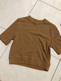 Brown Crop Top knitted