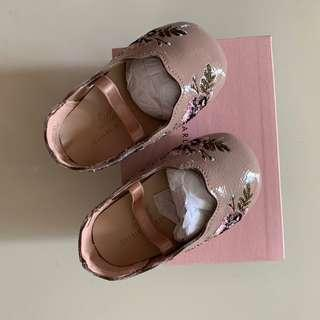 Little Charles & keith baby ballerina shoes embroidered