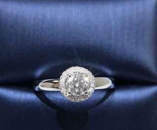 主石30份💎18k鑽石戒指