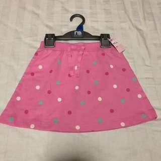 Mothercare pink spotted skirt