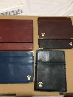 ROLEX CARD CASES : RARE COLOURS