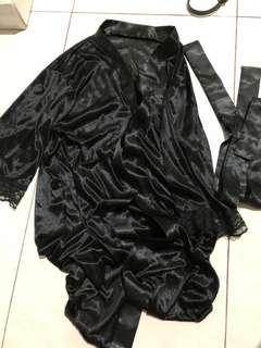 lace silk sleeping robe
