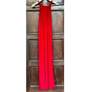 Red Long Dress (For Rent/For Sale)