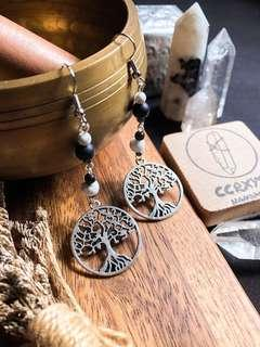 🚚 Tree of Life Drops in Silver