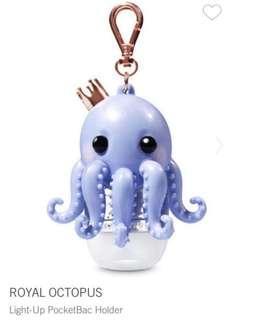 Bath and Body Works Royal Octopus Light-up Pocketbac Holder
