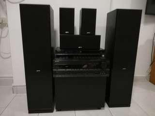 JAMO Speakers ONKYO HIFI & DVD Player & Woofer.
