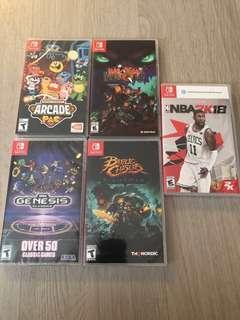 Nintendo Switch Brand New Games