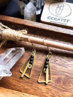 🚚 Protection Trio Obsidian Earrings