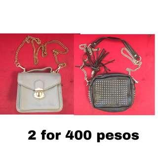 2 sling bags for 400