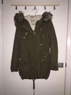 FOREVER NEW khaki winter jacket