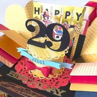 Happy 29 birthday Explosion box Card one piece theme