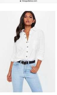 Button-up White Shirt (S)