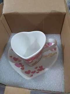 Hello Kitty Heart Shape Cup & Saucer
