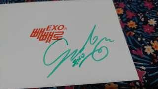 SIGNED Official Lotte Pepero EXO Pocket Card - SUHO