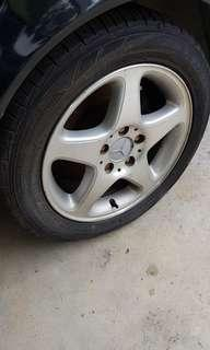 """Mercedes 16"""" rims with tires"""