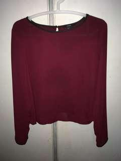 NAME YOUR PRICE: Forever 21 Maroon Flowy Long Sleeves