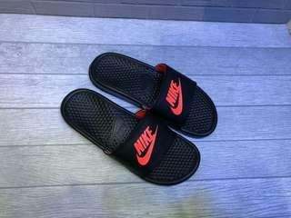 Sandal nike benassi orangge original