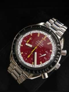 OmegaSpeedmaster Michael Schumacher Racing Red Dial 39mm Automatic