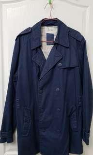 Zara men coat blue