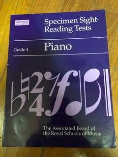 Grade 4 Piano Specimen Sight-Reading Tests